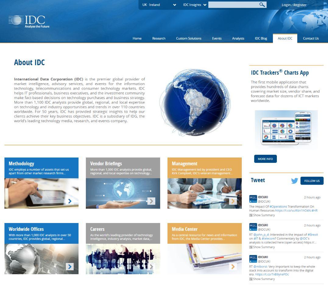 International Data Corporation, IDC UK
