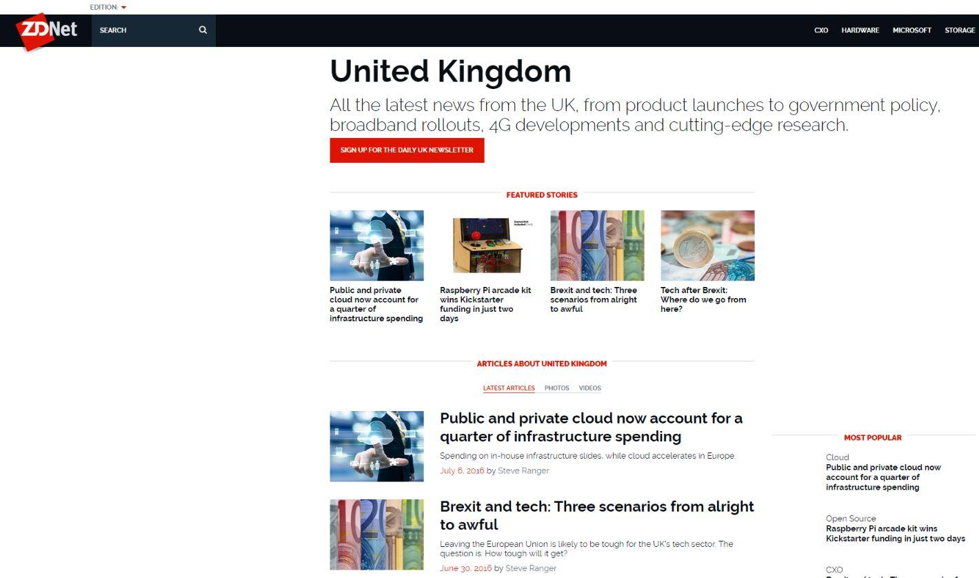 ZDNet UK / CNet, editor