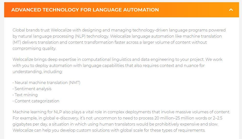 WeLocalize Natural Language Programming